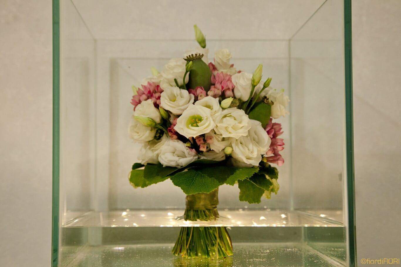 bouquet bianco rosa