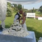 Taglio torta matrimonio Ersilia Massimiliano