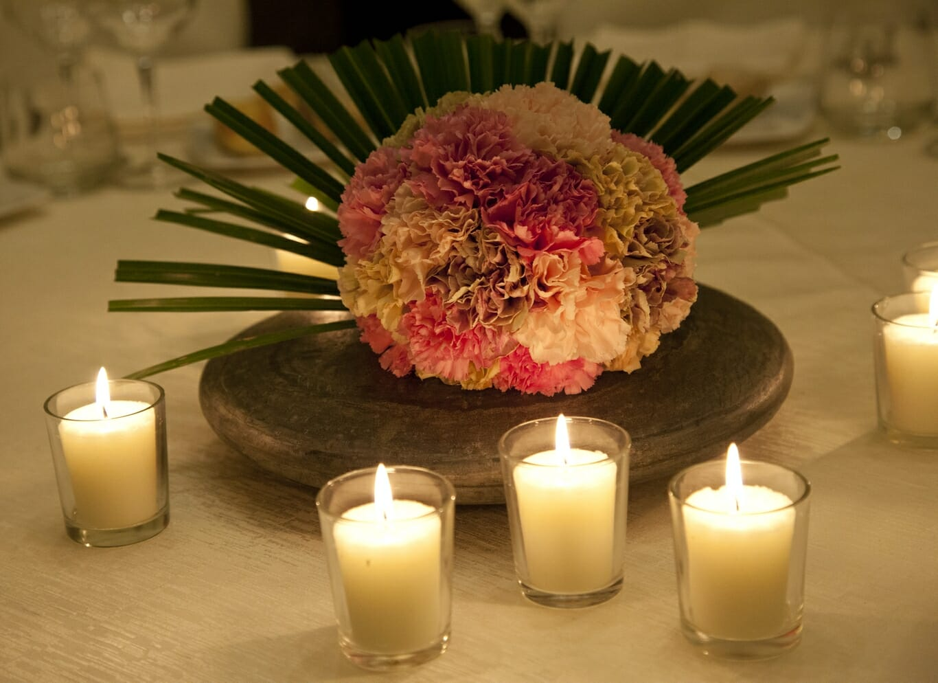 Centrotavola rustico e candele