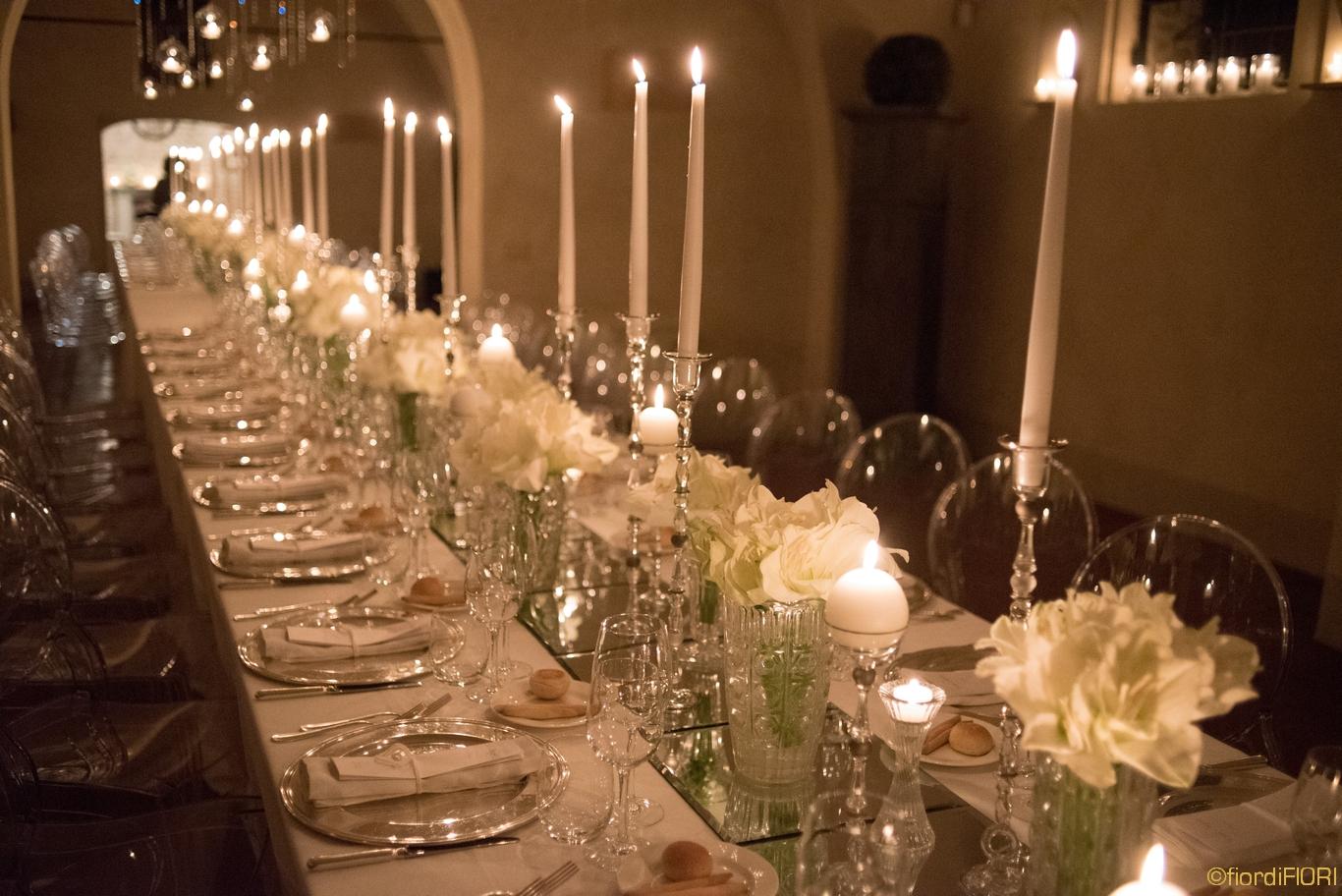 Fiordifiori matrimonio al convento for Addobbi tavoli matrimonio con candele