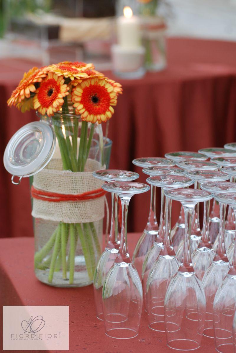 Compleanno nel relais con allestimenti floreali