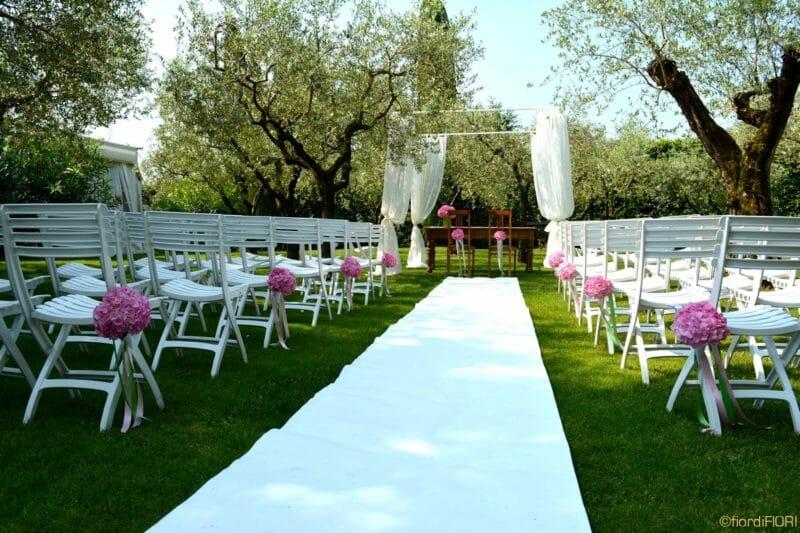 Matrimonio con ortensie rosa